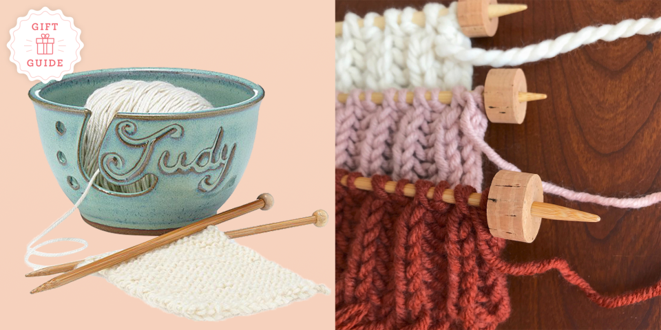 """<p>No one understands the beauty of knitting quite like they do. And while you appreciate their passion (especially when it results in your new favorite sweater or blanket), it's hard to find the perfect present for the knitter in your life because they know their craft better than anyone else. Start with these <a href=""""https://www.goodhousekeeping.com/holidays/gift-ideas/g29417662/unique-christmas-gifts/"""" rel=""""nofollow noopener"""" target=""""_blank"""" data-ylk=""""slk:unique gifts"""" class=""""link rapid-noclick-resp"""">unique gifts</a> for knitters, which include top-rated finds that even the most advanced knitters and crocheters don't already have (even <a href=""""https://www.goodhousekeeping.com/holidays/gift-ideas/g33768178/best-gifts-for-crafters/"""" rel=""""nofollow noopener"""" target=""""_blank"""" data-ylk=""""slk:the pro crafter"""" class=""""link rapid-noclick-resp"""">the pro crafter</a> who says they have everything). No matter which gift you pick, this mix of novelty and luxury ideas — everything from personalized knitting needles to <a href=""""https://www.goodhousekeeping.com/home-products/g32479861/best-knitting-supplies/"""" rel=""""nofollow noopener"""" target=""""_blank"""" data-ylk=""""slk:best-selling knitting supplies"""" class=""""link rapid-noclick-resp"""">best-selling knitting supplies</a> that'll alleviate the strain and stiffness felt after hours of stitching — will make their next crafternoon the best ever. </p><p>Since knitting and crocheting often overlap, you can't go wrong with any of these picks, even if you're not entirely sure what kind of stitches they're casting. All of them celebrate the joy that knitting and crocheting brings, and some even make the process less straining (LED light knitting needles) and stressful (stitch stoppers). That means, that they can focus on what's really important: the blanket, scarf, or sweater that they're working on.</p>"""