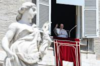 Pope Francis said the worst of the coronavirus crisis was over in Italy as he addressed the faithful for the first time in Saint Peter's Square