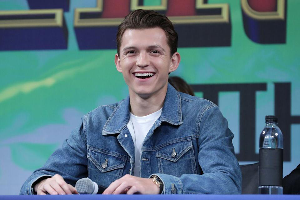 <p>Tom Holland attends the press conference for <em>Spider-Man: Far From Home</em> Seoul premiere on July 01, 2019 in Seoul, South Korea.</p>