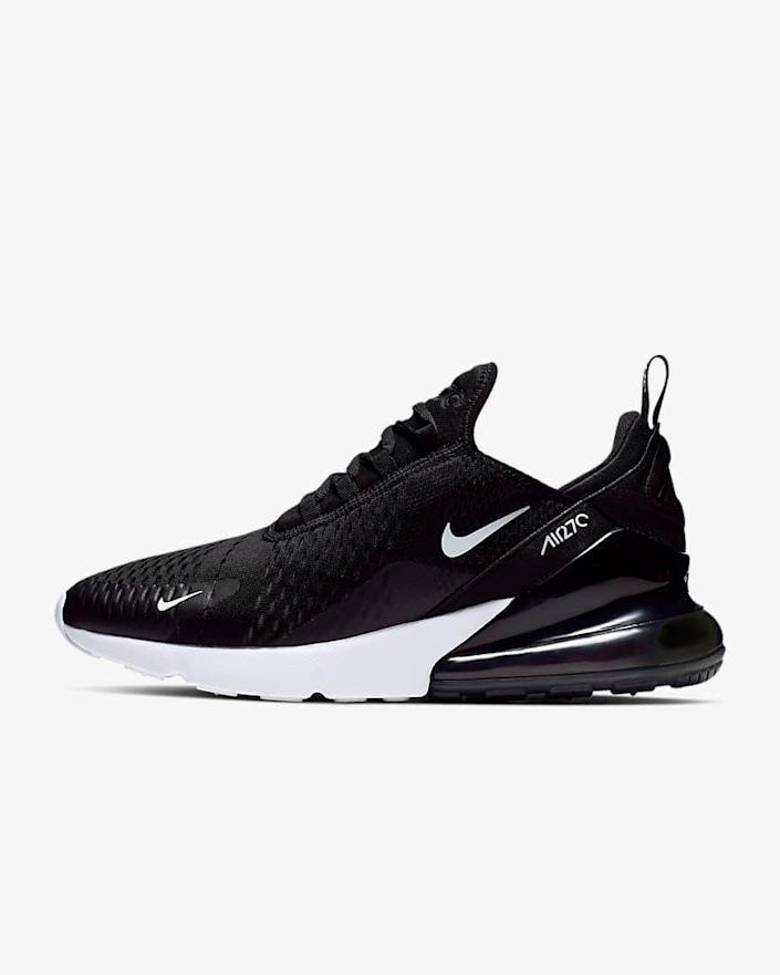 """<h2>Nike Air Max 270 Sneaker<br></h2><br>Sneaker nerds are very, very, <em>very</em> hard to shop for — especially since the goods they covet the most are usually only available via <a href=""""https://footwearnews.com/2015/business/retail/nike-air-jordan-twitter-sneaker-raffle-system-37146/"""" rel=""""nofollow noopener"""" target=""""_blank"""" data-ylk=""""slk:raffles"""" class=""""link rapid-noclick-resp"""">raffles</a> or hyper-inflated <a href=""""https://www.flightclub.com/"""" rel=""""nofollow noopener"""" target=""""_blank"""" data-ylk=""""slk:secondary market pricing"""" class=""""link rapid-noclick-resp"""">secondary market pricing</a>. If you do decide to go this perilous gift-giving route, it's best to choose a classic, perennially available style that can go into the giftee's backup rotation, like the forever-cool Nike Air Max.<br><br><em>Shop <strong><a href=""""http://nike.com"""" rel=""""nofollow noopener"""" target=""""_blank"""" data-ylk=""""slk:Nike"""" class=""""link rapid-noclick-resp"""">Nike</a></strong></em><br><br><strong>Nike</strong> Air Max 270, $, available at <a href=""""https://go.skimresources.com/?id=30283X879131&url=https%3A%2F%2Fwww.nike.com%2Ft%2Fair-max-270-mens-shoe-KkLcGR%2FAH8050-002"""" rel=""""nofollow noopener"""" target=""""_blank"""" data-ylk=""""slk:Nike"""" class=""""link rapid-noclick-resp"""">Nike</a>"""