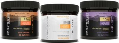 Charlotte's Web adds 3 new hemp CBD gummies to its #1 market leading gummy line including Immunity and THC-Free (CNW Group/Charlotte's Web Holdings, Inc.)