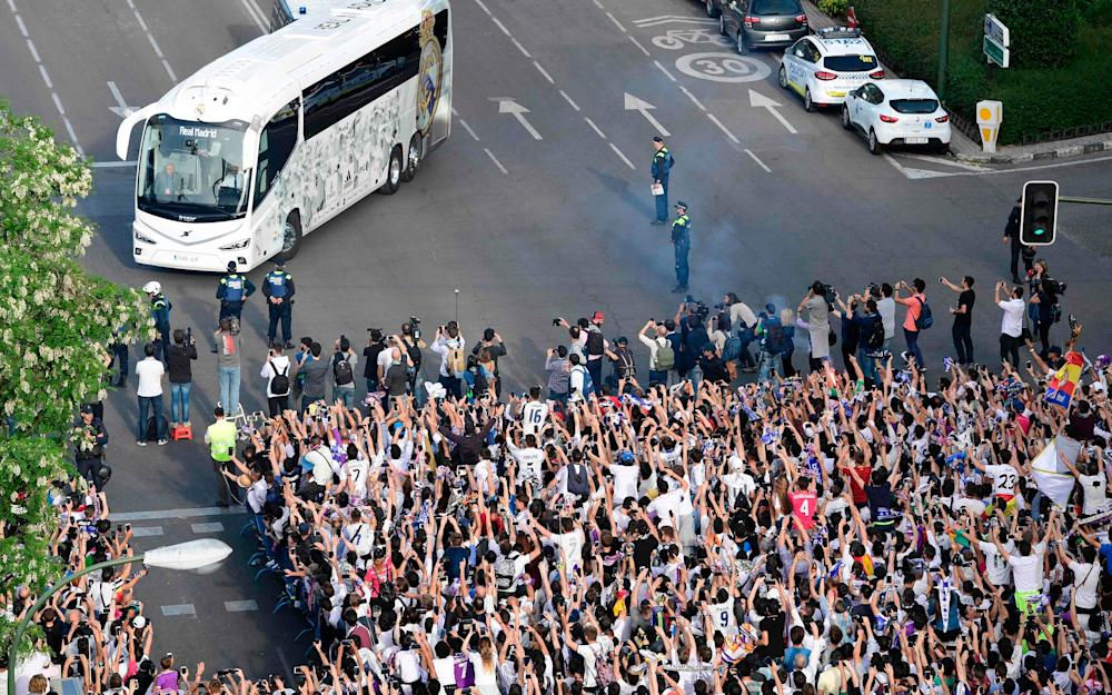 Real Madrid bus - Credit: GETTY