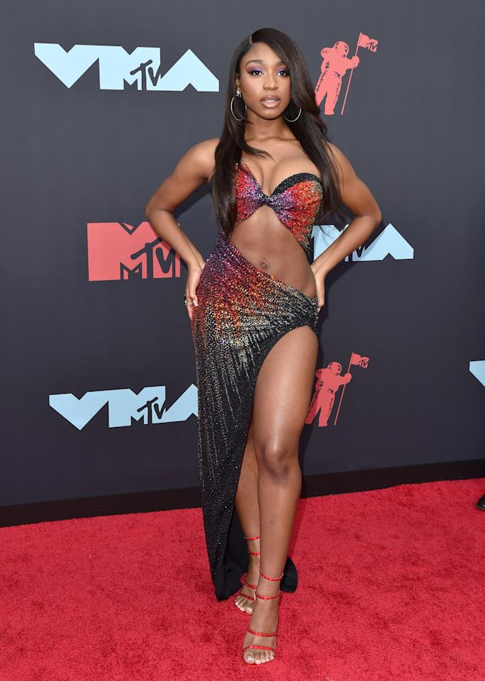 <p>Wow! Normani showed up to the 2019 VMAs looking like an absolute superstar. She rocks a sexy, sparkling look so well.</p>