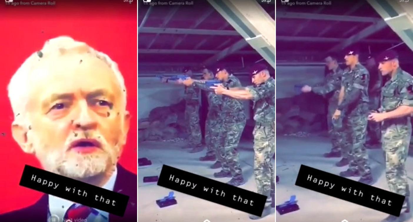 British Army investigating video of soldiers shooting at picture of Jeremy Corbyn