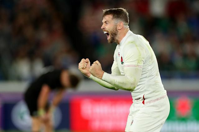 Elliot Daly celebrates beating New Zealand (Credit: Getty Images)