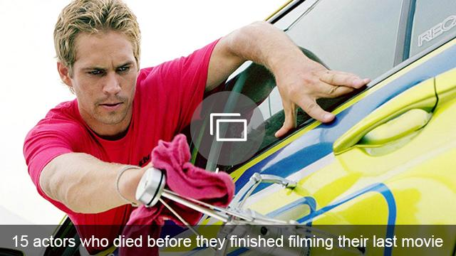 Actors who died while filming slideshow
