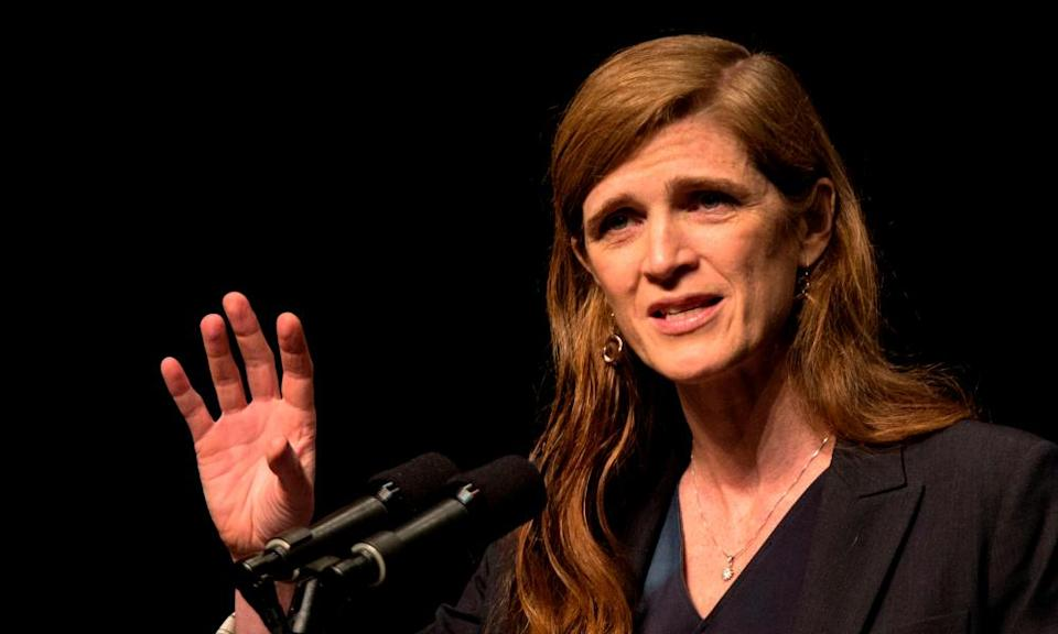 Samantha Power was also foreign policy and human rights adviser to Obama.
