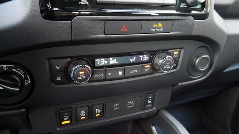 2022 Nissan Frontier climate controls