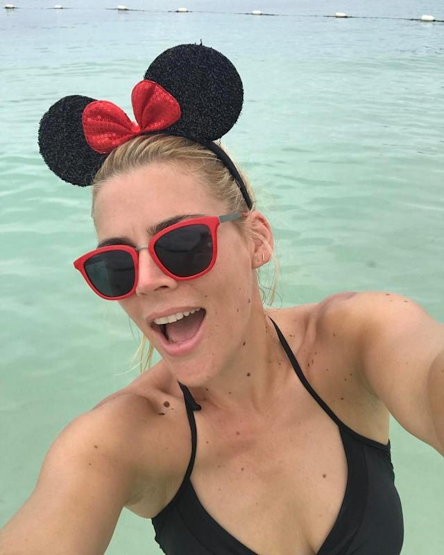 """<p>The <em>Vice Principals</em> actress was in a Minnie Mouse state of mind when she snapped this selfie on her Disney cruise. """"I feel like I'm really blending in here,"""" she joked, adding #ipaidforthis. (Photo: <a href=""""https://www.instagram.com/p/BT4NMyWFKga/"""" rel=""""nofollow noopener"""" target=""""_blank"""" data-ylk=""""slk:Busy Philipps via Instagram"""" class=""""link rapid-noclick-resp"""">Busy Philipps via Instagram</a>) </p>"""