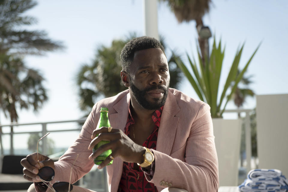 """This image released by A24 shows Colman Domingo in a scene from """"Zola."""" (Anna Kooris/A24 Films via AP)"""