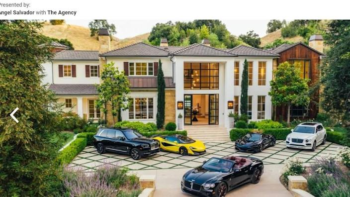 Exterior of house when owned by The Weeknd