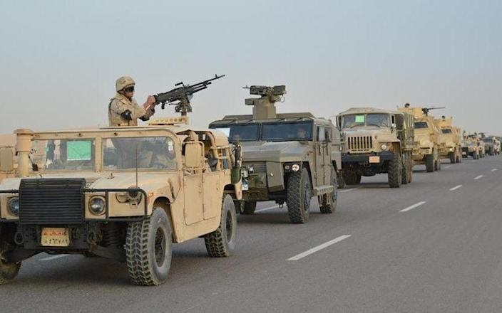 The Egyptian military have been fighting an Islamic State insurrection in Northern Sinai since 2013 - Handout/Reuters