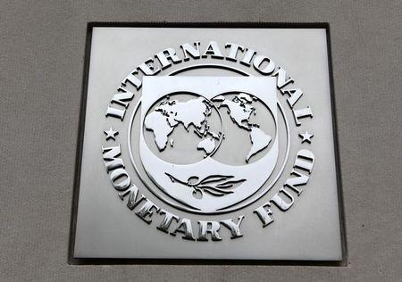 headquarters building during the 2013 Spring Meeting of the International Monetary Fund and World Bank in Washington