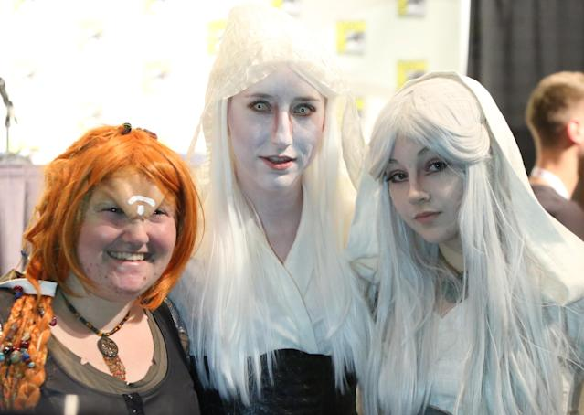 "Fans at the ""Defiance"" Panel in San Diego, CA on Friday, July 19, 2013."
