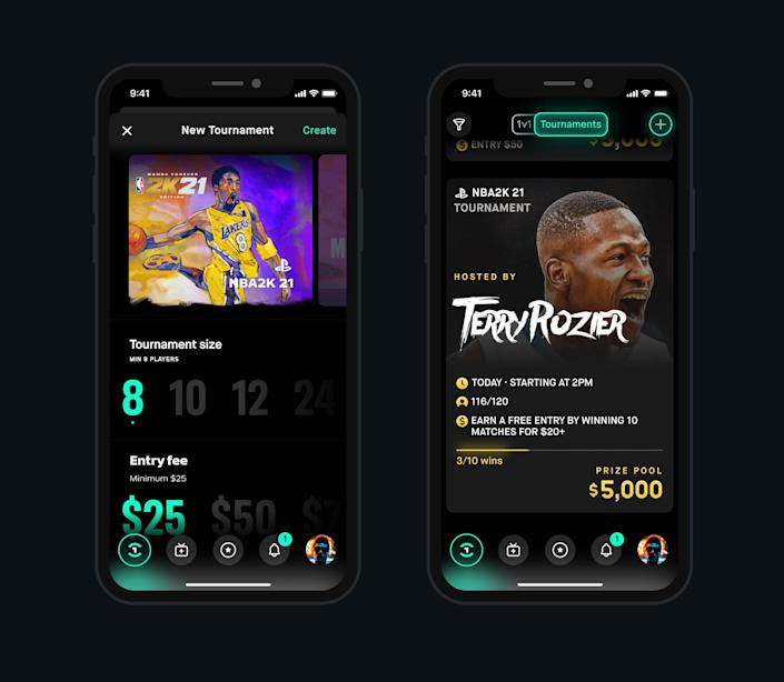 The Play One Up app will let you create your own esports tournament.