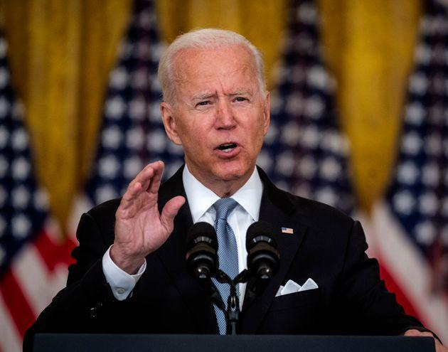 Washington, DC - August 16:  President Joe Biden delivers remarks on the situation in Afghanistan in the East Room of the White House, in Washington, DC.  (Photo by Bill O'Leary/The Washington Post via Getty Images) (Photo: The Washington Post via Getty Images)