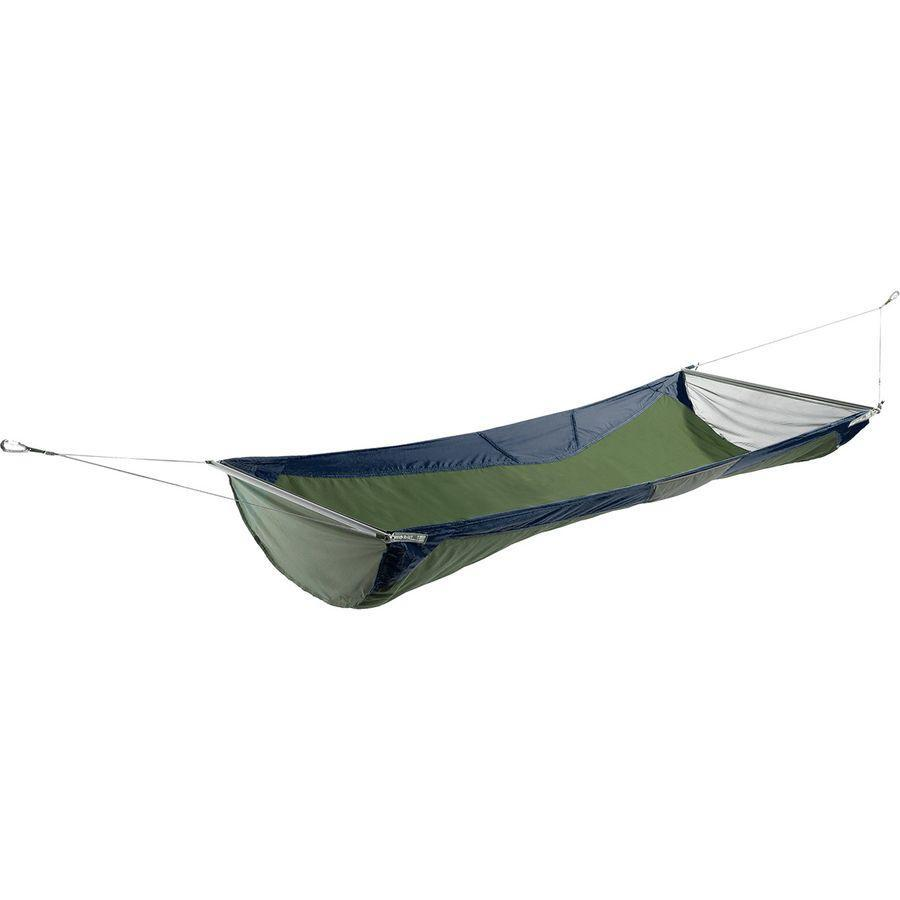 """Ensure his next camping trip is comfortable with Eagle Nest's nylon hammock. It comes with lightweight aluminum poles so he even can set it up where there aren't sturdy trees around. <br><br><strong>Eagles Nest Outfitters</strong> SkyLoft Hammock, $, available at <a href=""""https://go.skimresources.com/?id=30283X879131&url=https%3A%2F%2Fwww.backcountry.com%2Feagles-nest-outfitters-skyloft-hammock%3Fskid%3DEGN003L-NAV-ONESIZ%26ti%3DUExQIFJ1bGUgQmFzZWQ6R2lmdHM6Njo4Og%3D%3D"""" rel=""""nofollow noopener"""" target=""""_blank"""" data-ylk=""""slk:Backcountry"""" class=""""link rapid-noclick-resp"""">Backcountry</a>"""