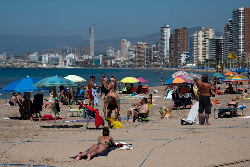 "Back to the beach: Benidorm in Spain, which is set to be on the ""air bridge"" list (STR/AFP via Getty Images)"