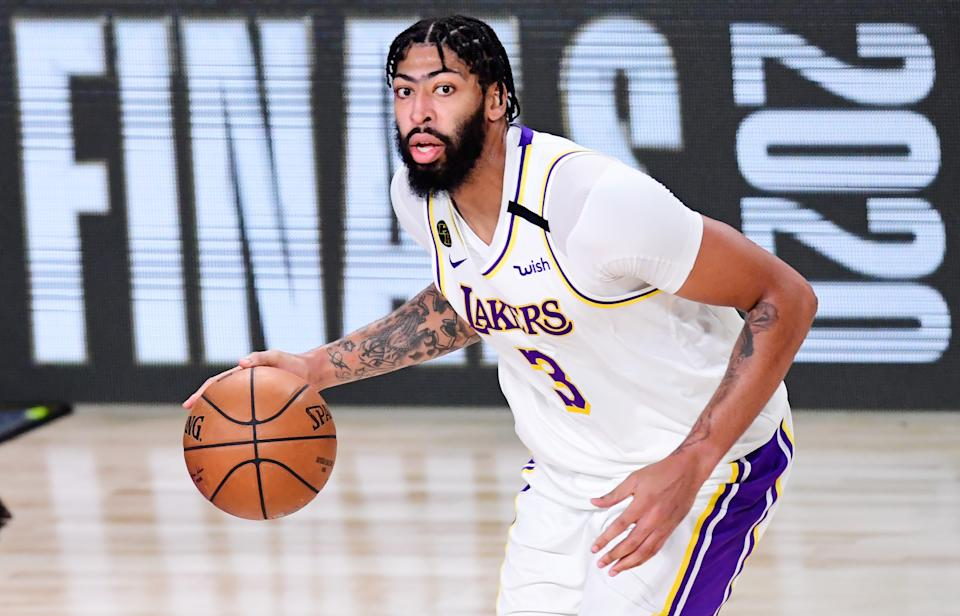 Anthony Davis will almost certainly re-sign with the Los Angeles Lakers. (Douglas P. DeFelice/Getty Images)