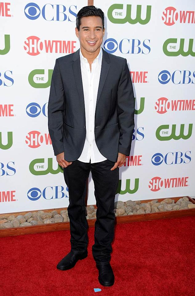 """Host with the most Mario Lopez made sure not to miss out on an opportunity in the spotlight. Frazer Harrison/<a href=""""http://www.gettyimages.com/"""" target=""""new"""">GettyImages.com</a> - August 3, 2011"""