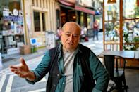 """""""There are heartbreaking stories,"""" says Vedat Sakman, 71, an artist who rents a cafe with a performance stage in Istanbul"""