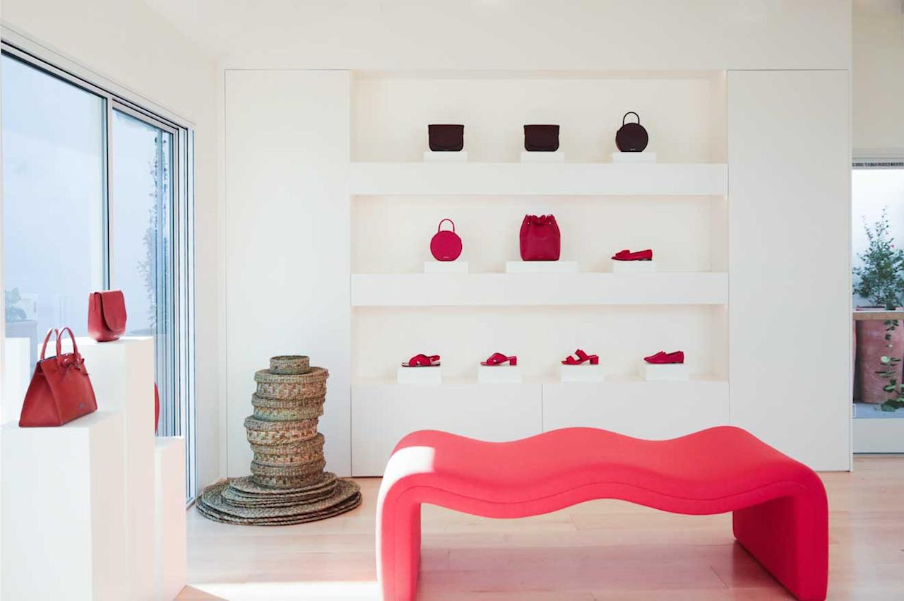 <p>Manur Gavriel is best known for their line of leather bucket bags, but have since expanded into ready-to-wear and shoes. (Photo: courtesy of Mansur Gavriel)<br />Location: 8475 Melrose Place, Los Angeles, CA 90069 </p>