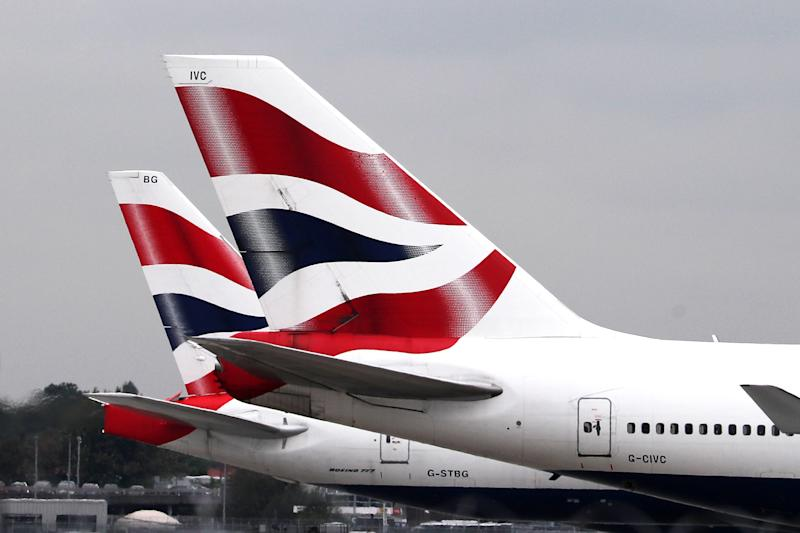 File photo dated 09/09/19 of British Airways planes at Terminal Five at Heathrow Airport, London, on day one of the first-ever strike by British Airways pilots, as flights will continue to be disrupted on Wednesday, despite the end of a 48-hour strike by pilots in a dispute over pay.