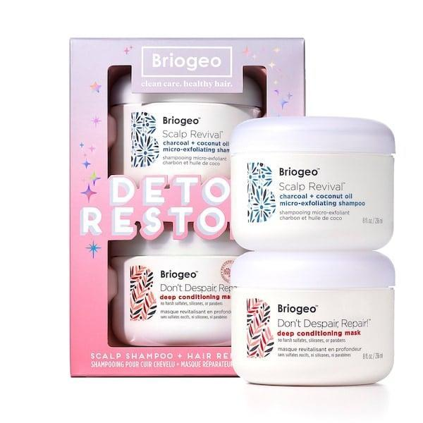 <p>This <span>Briogeo Detox + Restore Kit</span> ($49) is going to be a permanent fixture in this shower.</p>