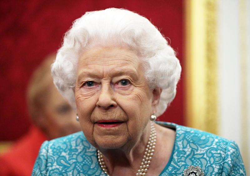 LONDON, ENGLAND - OCTOBER 21: Queen Elizabeth II during a reception to mark the 60th anniversary of Cruse Bereavement Care at St James's Palace on October 21, 2019 in London, England. (Photo by Yui Mok - WPA Pool / Getty Images)