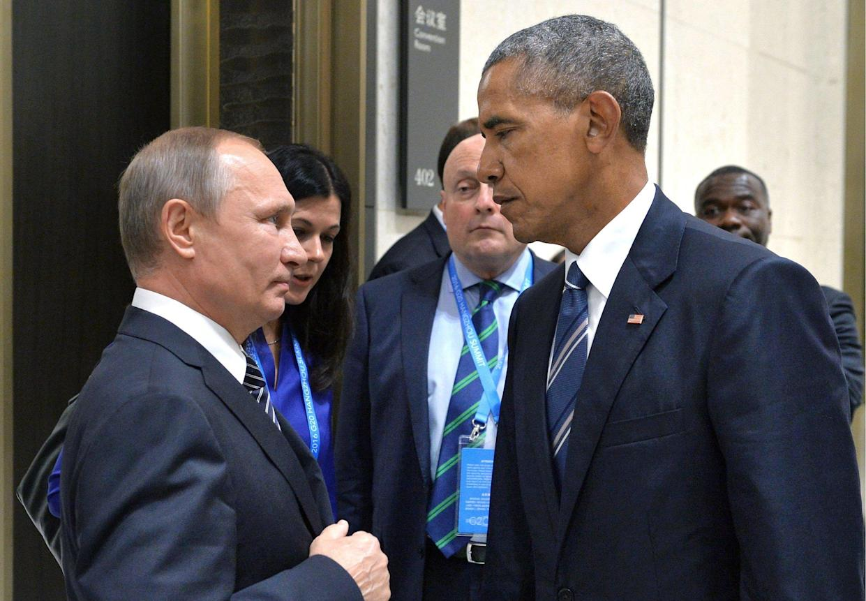 """In a """"candid, blunt and businesslike"""" meeting at a G-20 summit in Hangzhou, China, last September, President Obama warned Vladimir Putin against """"Wild West"""" hacking wars."""