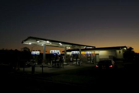 A Chevron gas station is seen in Cardiff, California