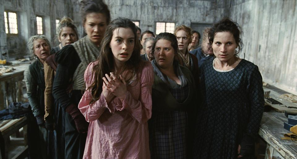 <p>Hathaway as Fantine before the shears came out</p>Universal Pictures