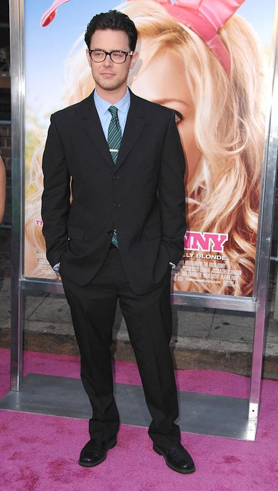 """<a href=""""http://movies.yahoo.com/movie/contributor/1800355564"""">Colin Hanks</a> at the Los Angeles Premiere of <a href=""""http://movies.yahoo.com/movie/1809921361/info"""">The House Bunny</a> - 08/20/2008"""