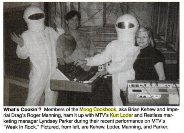 The Moog Cookbook visit MTV's Kurt Loder. (Photo: Billboard)