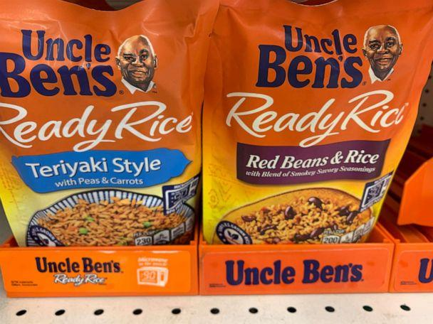 PHOTO: Bags of Uncle Ben's rice are seen on a store shelf on June 17, 2020 in Washington, D.C. (Eva Hambach/AFP via Getty Images)
