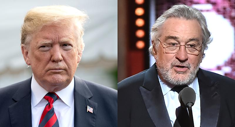 President Trump and actor Robert De Niro are publicly feuding. (Photo: Getty Images)