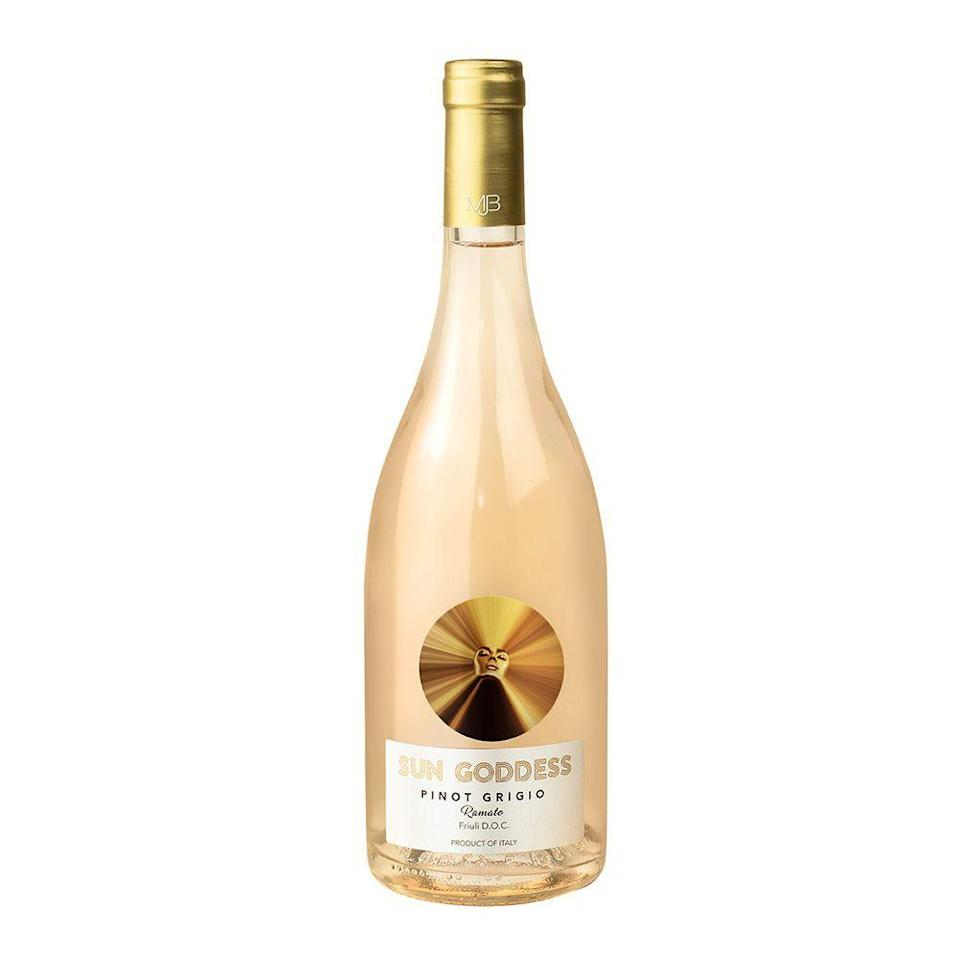 """<p><strong>Sun Goddess</strong></p><p>wine.com</p><p><strong>$19.99</strong></p><p><a href=""""https://go.redirectingat.com?id=74968X1596630&url=https%3A%2F%2Fwww.wine.com%2Fproduct%2Fsun-goddess-by-mary-j-blige-pinot-grigio-ramato-2019%2F638818&sref=https%3A%2F%2Fwww.bestproducts.com%2Feats%2Fdrinks%2Fg18374313%2Fwines-by-women-winemakers%2F"""" rel=""""nofollow noopener"""" target=""""_blank"""" data-ylk=""""slk:Shop Now"""" class=""""link rapid-noclick-resp"""">Shop Now</a></p><p>A Black-owned, woman-owned wine brand that you should have on your radar, <a href=""""https://www.sungoddesswines.com/"""" rel=""""nofollow noopener"""" target=""""_blank"""" data-ylk=""""slk:Sun Goddess Wines"""" class=""""link rapid-noclick-resp"""">Sun Goddess Wines</a> from <em>actual</em> goddess and music legend Mary J. Blige is bringing some much-needed positive vibes (<a href=""""https://www.foodandwine.com/wine/rose-wine/12-black-owned-rose-wines-to-try"""" rel=""""nofollow noopener"""" target=""""_blank"""" data-ylk=""""slk:and Black-owned representation"""" class=""""link rapid-noclick-resp"""">and Black-owned representation</a>) to the <a href=""""https://punchdrink.com/articles/time-to-decolonize-wine-sommelier-racism-restaurants/"""" rel=""""nofollow noopener"""" target=""""_blank"""" data-ylk=""""slk:predominantly white"""" class=""""link rapid-noclick-resp"""">predominantly white</a> world of wine.</p><p>This Pinot Grigio Ramato is fresh and fruity, and it has a gorgeous pale orange hue. Read <a href=""""https://www.bestproducts.com/eats/drinks/a33340933/mary-j-blige-sun-goddess-wine-review/"""" rel=""""nofollow noopener"""" target=""""_blank"""" data-ylk=""""slk:our full review right here"""" class=""""link rapid-noclick-resp"""">our full review right here</a>. </p>"""