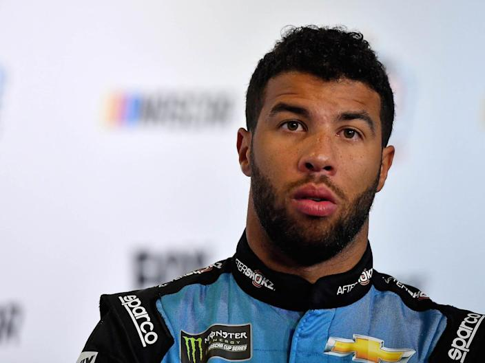 "Bubba Wallace said in a statement that Sunday's act of hatred ""serves as a painful reminder of how much further we have to go as a society."""