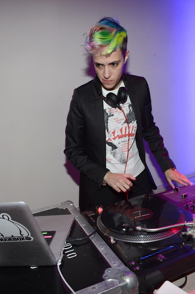 LOS ANGELES, CA - JANUARY 12:  DJ Samantha Ronson performs at the 2nd Annual Sean Penn and Friends Help Haiti Home Gala benefiting J/P HRO presented by Giorgio Armani  at Montage Hotel on January 12, 2013 in Los Angeles, California.  (Photo by Michael Buckner/Getty Images for J/P HRO)