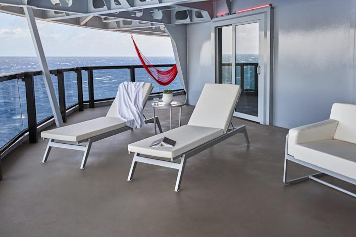 Cheeky Corner Suite, Exterior on the Scarlet Lady by Virgin Voyages