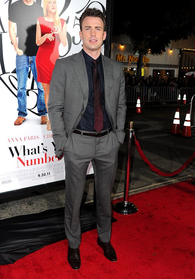"<a href=""http://movies.yahoo.com/movie/contributor/1803006988"">Chris Evans</a> at the Los Angeles premiere of <a href=""http://movies.yahoo.com/movie/1810179802/info"">What's Your Number?</a> on September 19, 2011."