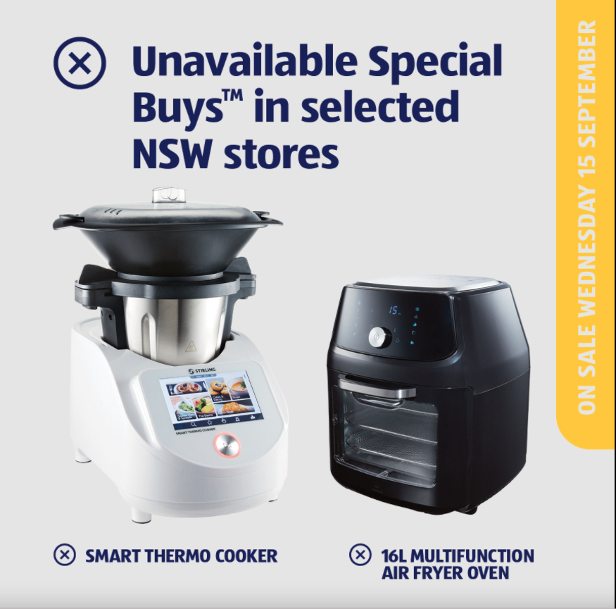Aldi Thermo Cooker and Aldi MultiFunction Air Fryer Oven