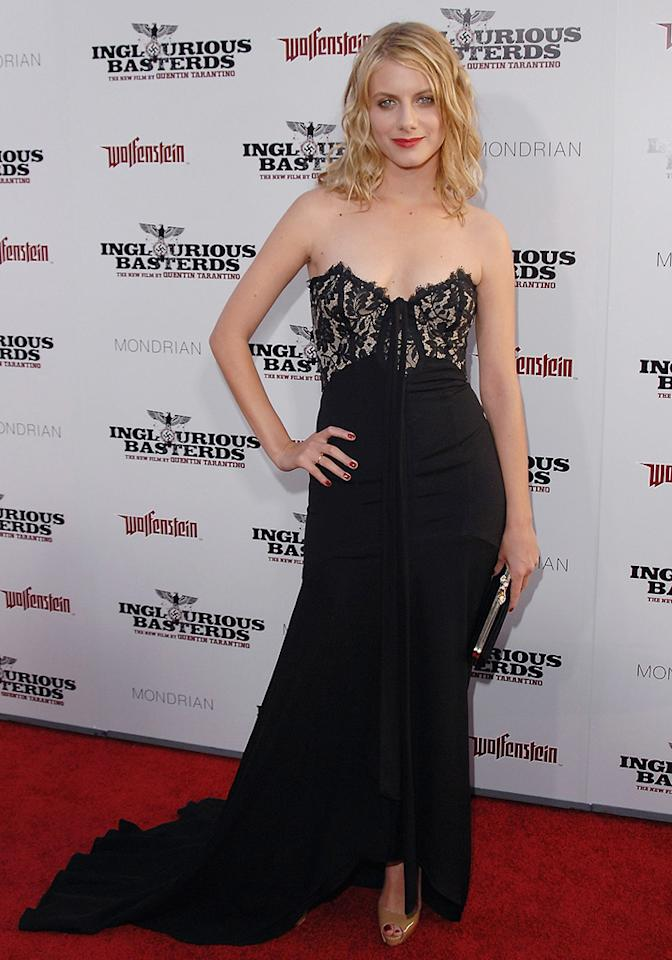 """<a href=""""http://movies.yahoo.com/movie/contributor/1809104564"""">Melanie Laurent</a> at the Los Angeles premiere of <a href=""""http://movies.yahoo.com/movie/1808404206/info"""">Inglourious Basterds</a> - 08/10/2009"""