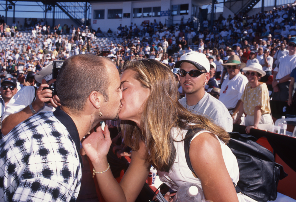 <p>Andre Agassi e Brooke Shields, Montreal 1995. </p>