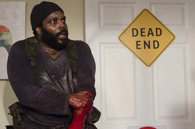 <p>In the comics, Tyreese is one of the first members of Rick's crew and becomes a co-leader. He also strikes up several romantic relationships, first with Carol and later with Michonne. He's eventually captured and beheaded by the Governor, a la Herschel. But in the show, Tyreese gets bitten and Michonne tries to amputate his arm, before he succumbs to death.<br><br>(Photo Credit: Gene Page/AMC) </p>