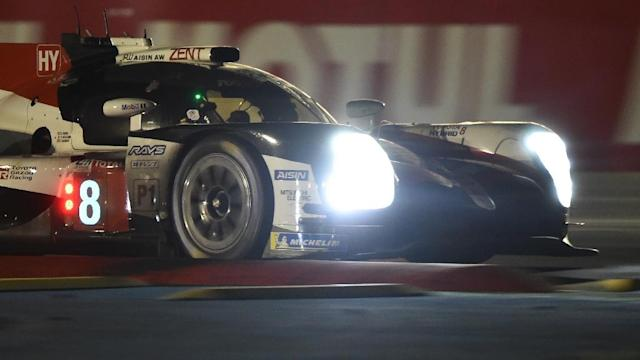 Spanish driver Fernando Alonso shone through the night at Le Mans (AFP Photo/JEAN-FRANCOIS MONIER )