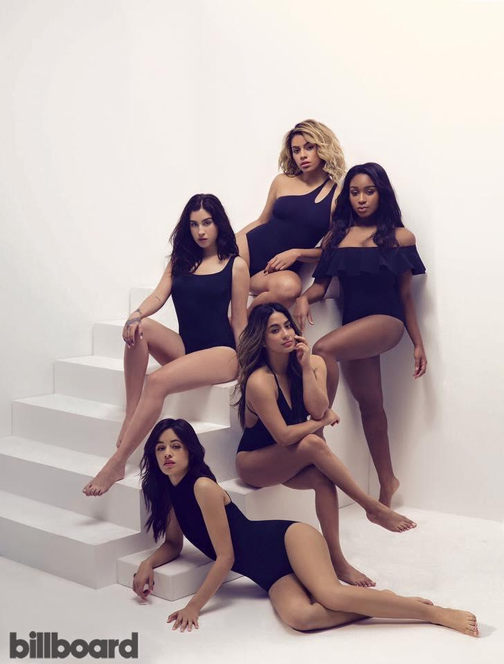"""<p>Fifth Harmony were shot for a <i>Billboard</i> cover with star Ally Brooke being blessed with two right feet. The singer managed to laugh about it, commenting: """"My left foot is a little hurt, but it's okay. It'll get its confidence back soon. <i>[Photo: Billboard]</i> </p>"""