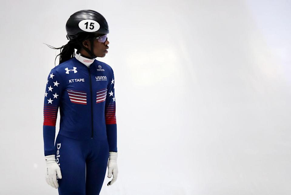 <p><strong>Sport: </strong>Short Track Speedskating</p><p>After winning first place in the 500m at the 2017 Olympic trials and qualifying in the 1500m, at 18 years old, Biney became the first Black woman ever on Team USA to compete in the Olympic short track competition at the Pyeongchang Games. And as a Ghana native, she's also the second African born athlete to represent the U.S. at the Winter Olympics.<br></p>