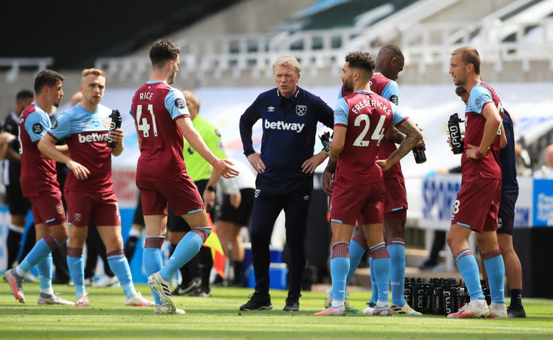 West Ham's Moyes seeks defensive improvement after Newcastle draw