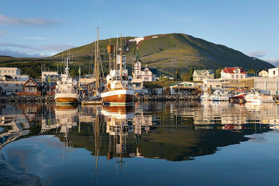 Husavik harbour in the north of the country (Iceland Tourism)